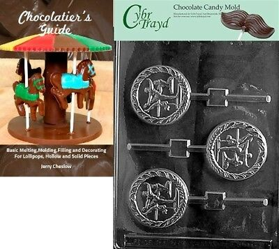 Cybrtrayd Female Gymnast Lolly Sports Chocolate Candy Mould with Chocolatier's