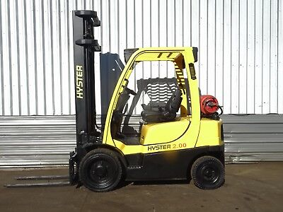 HYSTER H2.0FT. 4330mm LIFT. USED GAS FORKLIFT TRUCK. (#2136)