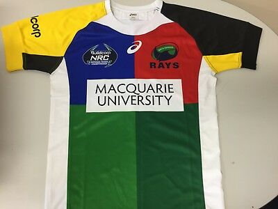 NRC #9 North Harbour Rays rugby union players jersey MED/LARGE super rugby NSW