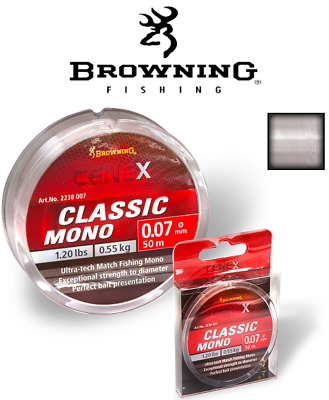 Browning Cenex Classic Mono 0,06-0,16mm Monofile Angelschnur