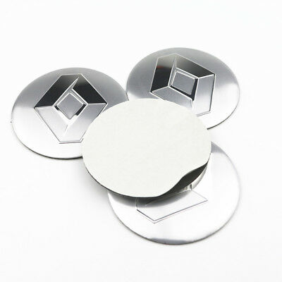4 Pcs Wheel Center Hub Cap Stickers 56.5 mm emblems For Renault