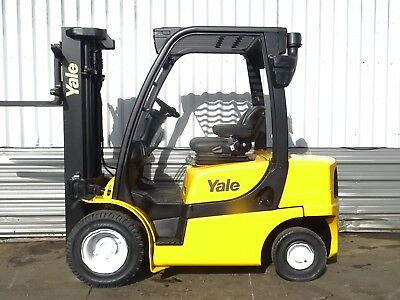YALE GLP25VX . 4950mm LIFT. USED DIESEL FORKLIFT TRUCK. (#2120)