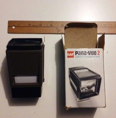 Working GAF Pana-vue 2 Lighted 2 X 2 Slide Viewer Vintage Box Instructions #6562