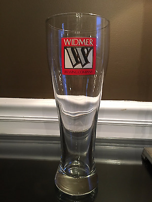WIDMER BROTHERS Brewing Co. Tall Beer Glass - 16 oz - 9 in tall x 3 1/4 mouth