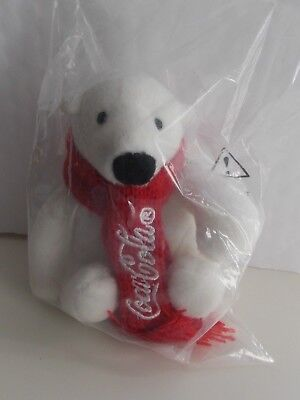 "NEW Coca-Cola Polar Bear Plush 4.5"" tall"