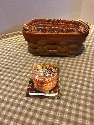 1999 Longaberger Candy Corn Basket With Liner & Protector