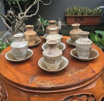 Set 7 Pcs Old Antique Chinese Song Dynasty Vases (Shipwreck)