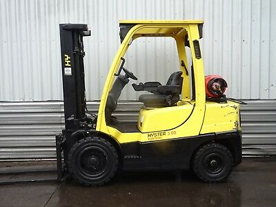 HYSTER H3.0FT. 3100mm LIFT. USED GAS FORKLIFT TRUCK. (#2039)