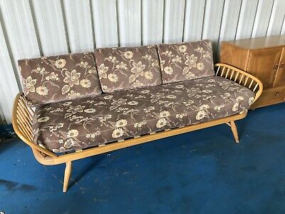 VINTAGE RETRO BLOND ERCOL DAY BED - STUDIO COUCH SOFA MID CENTURY 60s 70s