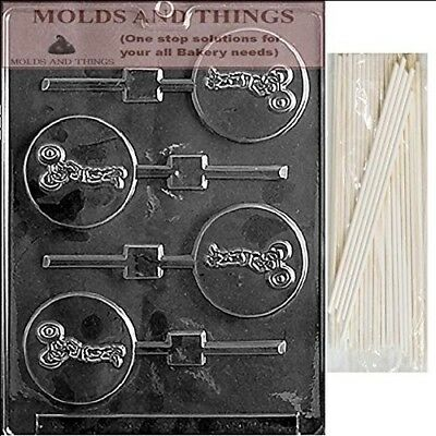 WEIGHT LIFTER LOLLY Chocolate Candy Mould With © Moulding Instruction + 25