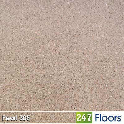 Pearl 305 Dublin Heathers Flecked Feltback Carpet Cream Twist Pile 4m & 5m Wide