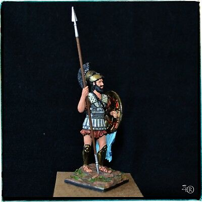 Tin Soldier 54 mm, Ancient Greek Hoplite, Spartan, Hand Painted Miniature 1:30