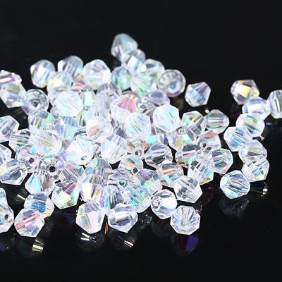 1000pcs 2/3/4mm Crystal Bicone Loose beads 5301 DIY Jewelry making