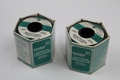 Kester New One Pound Lead Free Solder Wire SN96.5AG03CU.5 #66/48 1.5mm(Lot of 2)