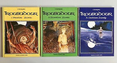 *TROUBADOUR* von MICHEL CRESPIN  Band 1 & 2 & 3  Serie von Arboris Graphic Arts