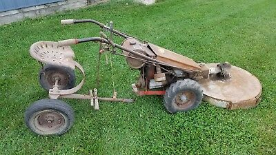 Vintage Gravely walk behind lawn tractor with sulky Antique Garden Equipment