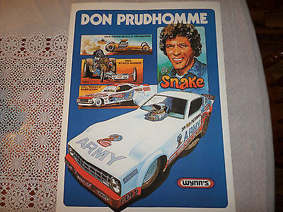 RARE Vintage Racing Poster Don Prudhomme 1977 funny car! digitally remastered!