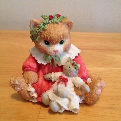 """Calico Kittens """"Dressed In Our Holiday Best"""" Figurine (1536)"""