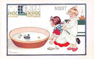 Night!. The Children's Day! signed, bath, water dock toys 1916