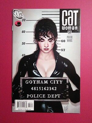 "Catwoman #51 (DC, 3rd series) Adam Hughes cover! Mugshot with ""Lost"" numbers!!"