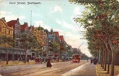 Lord Street, Southport Tram animated fancy vintage railway 1906