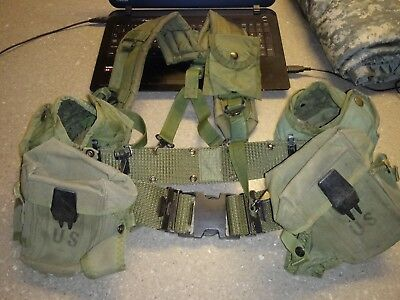 Us Military Issue Army Usmc Load Bearing Enhanced Lbe/lbv Combat Vest Hunting