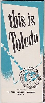 1943 Toledo Ohio City Map & Promotional Brochure