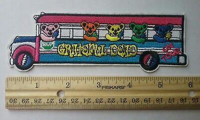 Grateful Dead Iron-on Patch Dead Bears Tour Bus Jerry Garcia Hippy Trippy 6 inch