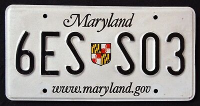 """MARYLAND SHIELD - DISCONTINUED ! 6ES S03 """" MD Vintage Graphic License Plate"""