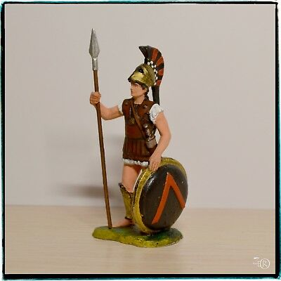 Tin Soldier 54mm, Ancient Greek Warrior, Spartan Hoplite, Hand Painted Miniature
