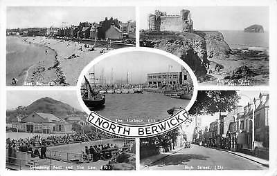 North Berwick, The Harbour Tantallon Castle and Bass Rock Swimming Pool