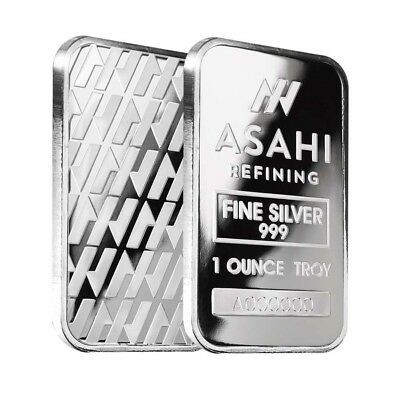 Lot of 2 - 1 oz Asahi Silver Bar .999 Fine Sealed