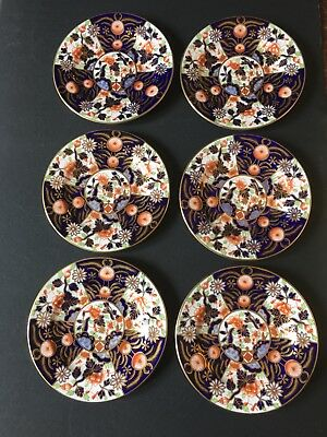 Six (6) Fine Imari Vintage Bread And Butter Plates