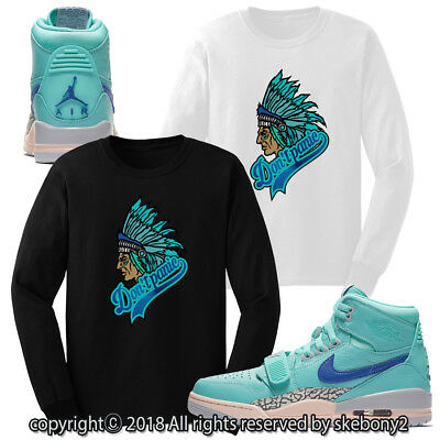 3912f78004ba3 CUSTOM T SHIRT MATCHING STYLE OF Air Jordan Legacy 312 Hyper Jade ...
