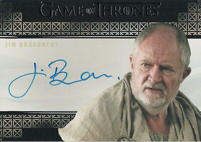 Game of Thrones Season 7, Jim Broadbent 'Archmaester Ebrose' Autograph Card
