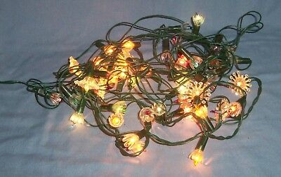 111 vtg clear plastic tulip flower mini christmas tree light covers
