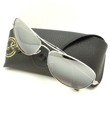 abb26875a4 Ray Ban 3562 003 5J Silver Mirror Polarized 59mm Sunglasses New Authentic