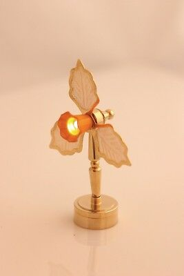 Table fan with orange shade - 1/12 -  Dollshouse lighting - LED battery operated