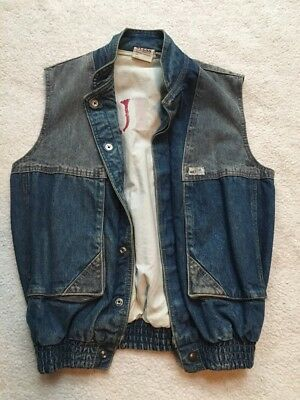 """Vintage 80's GUESS Georges Marciano """"Hobo"""" Denim Vest - Unisex Small"""