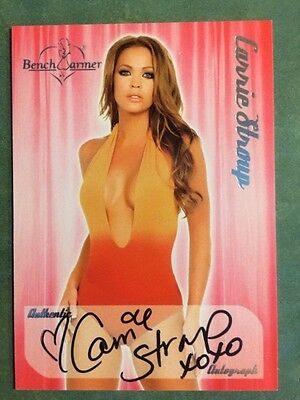 Assorted Benchwarmer Autographed Cards Of Playmates & Models****