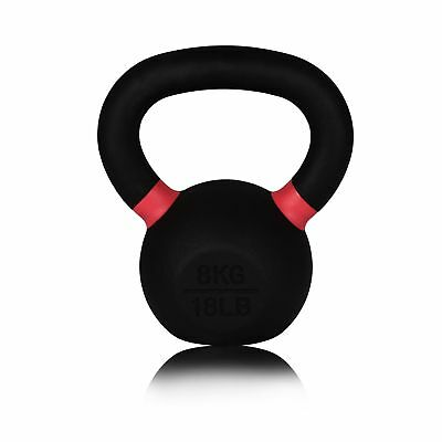 Forged Cast Iron Kettlebell - 8kg - For Gym, Weightlifting, Crossfit