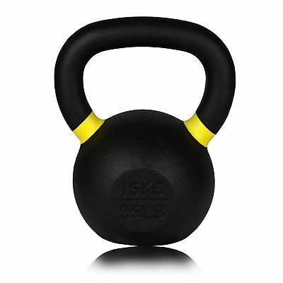 Forged Cast Iron Kettlebell - 16kg - For Gym, Weightlifting, Crossfit