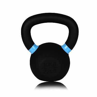 Forged Cast Iron Kettlebell - 10kg - For Gym, Weightlifting, Crossfit