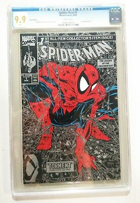 Spider-Man (1990) #1 CGC 9.9 White Pages Todd McFarlane Silver Edition
