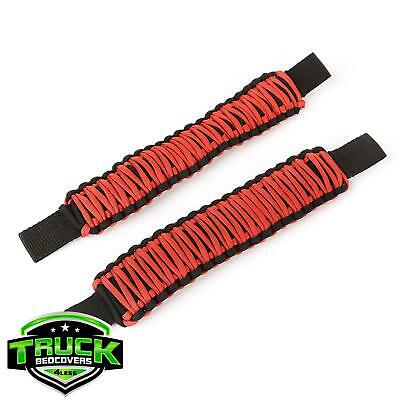 Rugged Ridge 13305.81 Red Paracord Seat Mount Grab Handle Pair for 07-18 Jeep JK