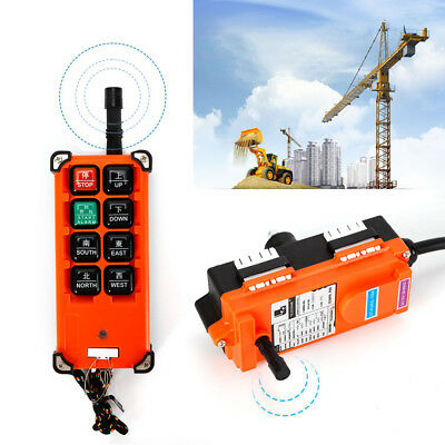 Industrial 8Key Lifting Crane RC Control Wireless Transmitter Push Button Switch