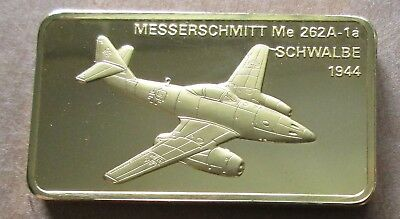 THE JANES MEDALLIC REGISTER..MESSERSCMITT ME 262A-1a GERMANY 1944.GOLD ON BRONZE
