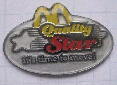 M / QUALITY STAR it´s teime to move   .......... McDONALD`S  -  Pin (165a)