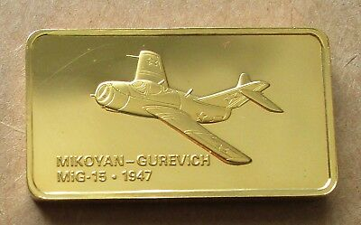 THE JANES MEDALLIC REGISTER..MIKOYAN-GUREVICH MiG-15 USSR 1947.GOLD ON BRONZE