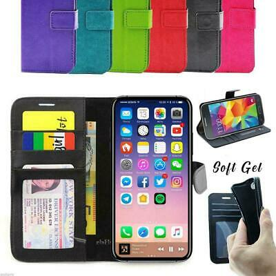 iPhone 11 Pro XS MAX XR X Card Holder Leather Wallet Flip Case Phone Cover Apple